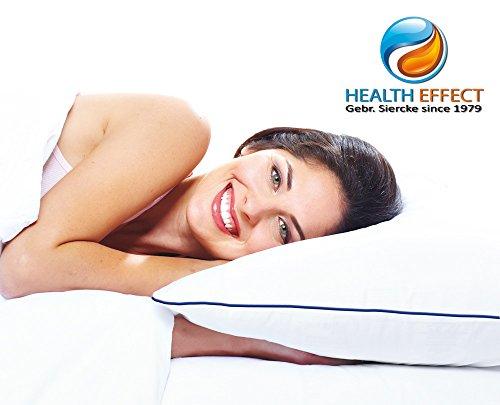 Wasserkissen HEALTH-EFFECT 40 x 80 cm, weiß. Durch das clevere Wasserkissen System erleben Sie in jeder Schlafposition einen individuell angepassten Stützkomfort für Kopf und Nacken. Inkl. handlicher Fülltrichter, Bedienungsanleitung und Pflegehinweise. V