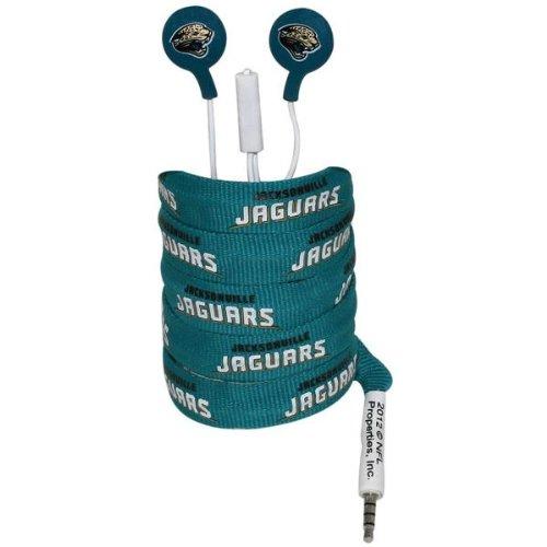 iHip NFE52-JAJ NFL Noise Isolating Shoelace Earphones (Jacksonville Jaguars) jacksonville jaguars zombie figurine