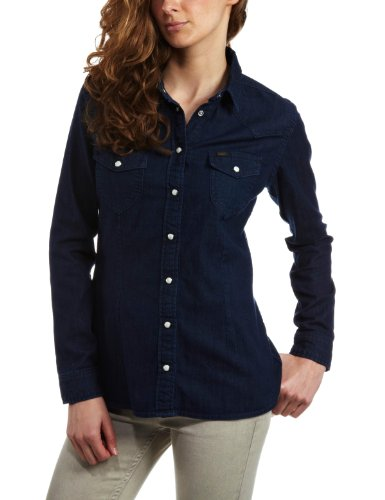 Lee Western Women's Shirt Blue Note Small