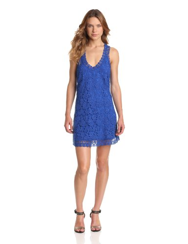 Madison Marcus Women's Zing Lace Halter Back Dress, Ocean Blue, Small