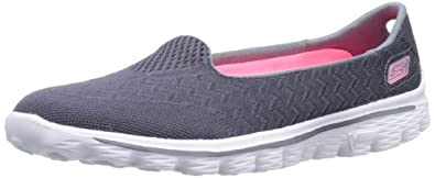Skechers Women's Go Walk 2-Axis Fashion Sneaker,Charcoal,5.5 M US