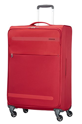 American Tourister Herolite Super Light Spinner Valigia, 74 cm, 95 litri, Formula Red