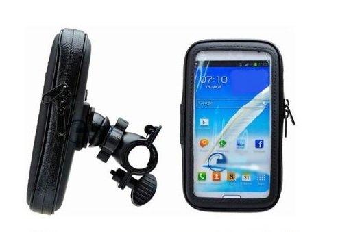Eco Ride World マウントホルダー バイク 自転車 防水 マウントキット GPS ナビ スマホ 5.2インチ タブレット 脱落防止ストラップ付き