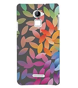 Colourful Leaf Pattern 3D Hard Polycarbonate Designer Back Case Cover for Coolpad Note 3 Lite :: Coolpad Note 3 Lite Dual SIM