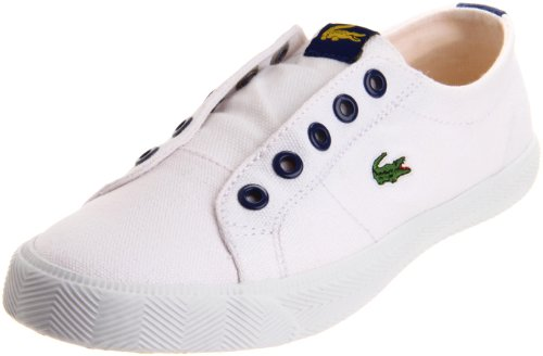 Lacoste Marcelli Slip-On Fashion Sneaker (Toddler/Little Kid/Big Kid),White/Dark Blue-C,11 M US Little Kid