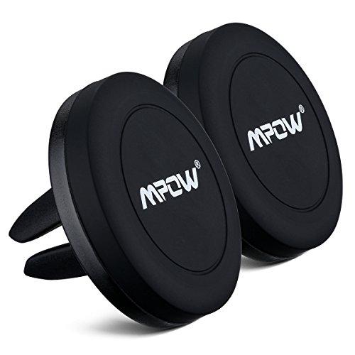 Mpow Porta Cellulare Magnetico Universale da Auto per CD Slot, con 360 è Girevole per Tutti gli Smartphone e GPS, iPhone 7/6/6S, 5S 5, Galaxy S4 S5, Huawei P9, Nota 3, LG G3, Nexus 4/5, HTC , Motorola, Sony, ecc-2 Pack