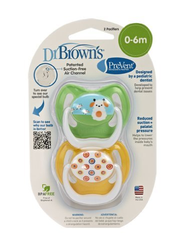 Dr. Brown'S Prevent Design Pacifier, Neutral, Stage 1, 0-6 Months Newborn, Kid, Child, Childern, Infant, Baby
