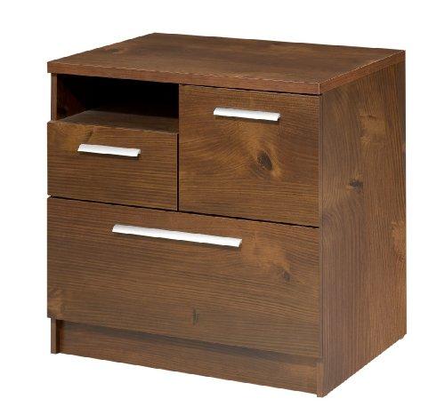 Nexera 721209 Aero Lite Storage and Filing Cabinet, Truffle