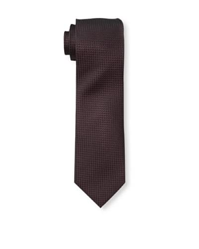 English Laundry Men's Mini Block Tie, Burgundy