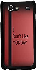 Printvisa 2D-SGSA-D8026 Quotes Monday Case Cover For Samsung Galaxy S Advance I9070