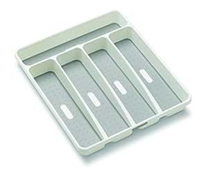 madesmart Classic Small Silverware Tray, White