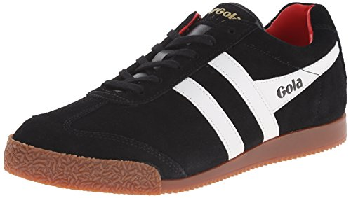 Gola Men's Harrier Fashion Sneaker, Black/White/Red, 40 EU/7 M US