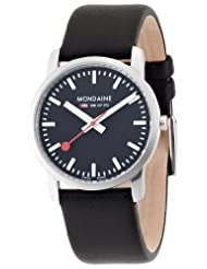 Mondaine Women's A672.30351.14SBB Simply Elegant Leather Band Watch