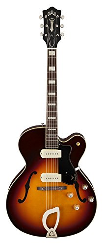 Guild X-175 Manhattan Hollow Body Electric Guitar with Case (Antique Burst) (Hollow Body Electric Guitar Case compare prices)