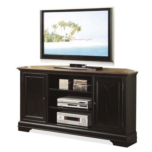 buy low price riverside furniture anelli ii tv stand in vintage cherry and bridgewood black. Black Bedroom Furniture Sets. Home Design Ideas