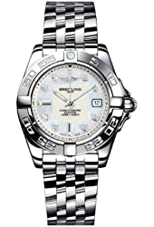 Breitling Women's Galactic 32 Diamond & Mother of Pearl Watch