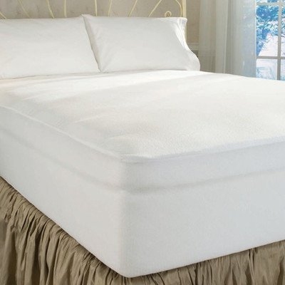Cheapest Prices! DreamFit 4-Degree Dream Cool Performance Fabric Mattress Protector, King, White