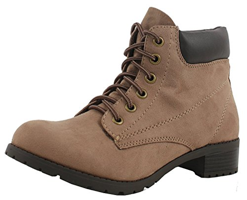 Soda Equity-S Padded Collar Ankle Lace Up Boot (8.5 B(M) US, L Cement) (Soda Equity Boots compare prices)