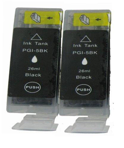 2 Canon PGI-5bk.*.*.*SCHWARZ.*.*.* Kompatibel Tinte für Canon Pixma iP4200 iP4300 iP4500 iP5200 iP5200R iP5300 iP6600D iP6700D iP7600 MP500 MP530 MP540 MP600 MP610 MP800 MP600R MP800R MP810 MP830 MP950 MP960 MP970 9000 MX850 Pro 9000 Pro 9000 Mark ll. ***Hohe Kapazität*.*.Dye-Tinte aus DEUTSCHLAND.*.*.neueste Version APEX-Chips.*.*.