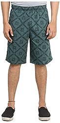 Broche Men's Cotton Shorts (Broche9003-Xxl, Green, Xx-Large)