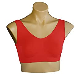Spangel Fashion Air Sports Bra (Red_Free Size, Size of 28 to 36)