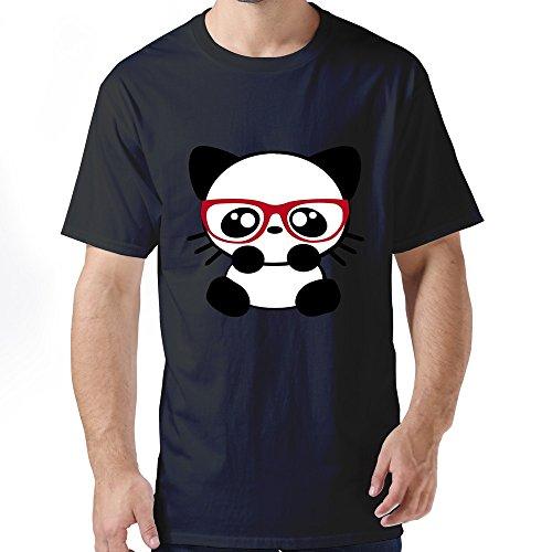 Stabe Men Nerd Cat T-Shirt Unique Cool Xl Black