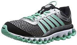 K-Swiss Women\'s Tubes 151 Pattern Cross-Training Shoe, Silver/Black/Cabbage, 8.5 M US