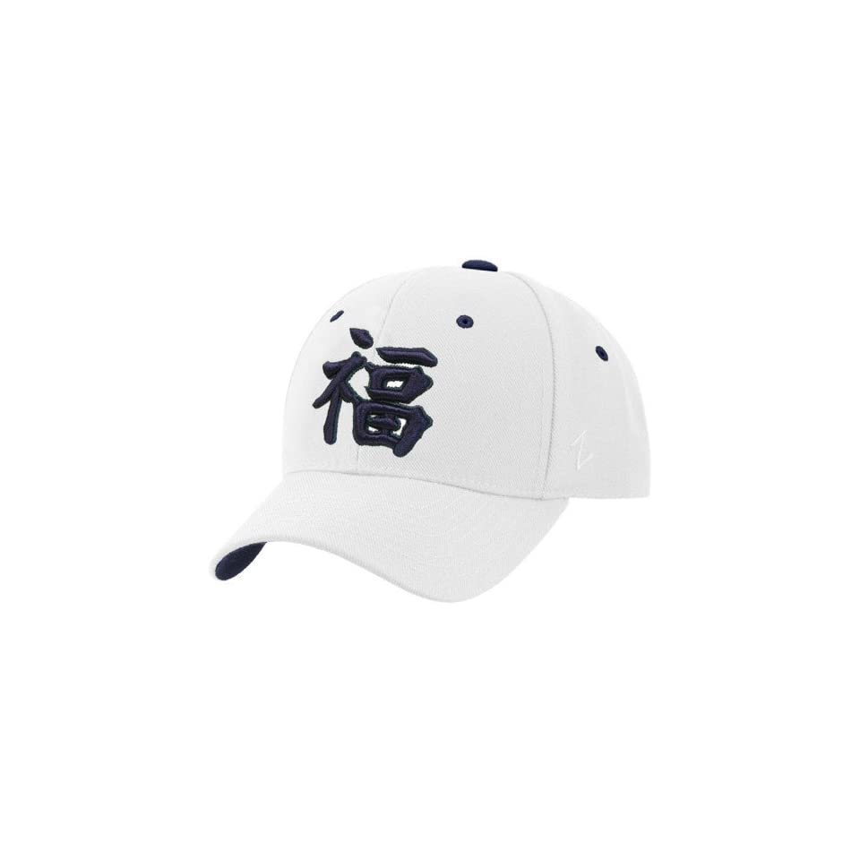 96e0c3b6a9d36 Zephyr Notre Dame Fighting Irish White Kanji Fitted Hat on PopScreen