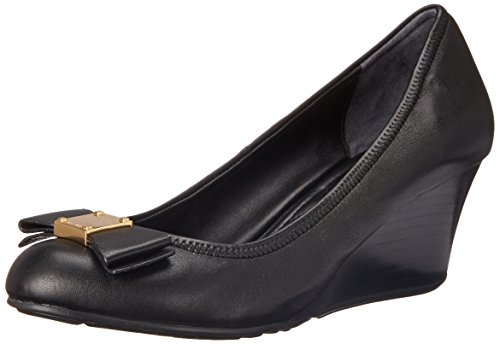 Cole Haan Women's Tali Grand Bow WDG65 Wedge, Black, 8 B US (Cole Haan Shoes Women Wedge compare prices)