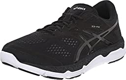 ASICS Men\'s 33 FA Running Shoe, Black/Onyx/White, 10.5 M US