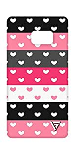 Vogueshell Heart Pattern Printed Symmetry PRO Series Hard Back Case for Samsung Note 7