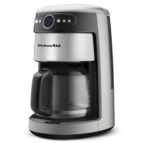KitchenAid 14-Cup Glass Carafe Coffee Maker, Contour Silver