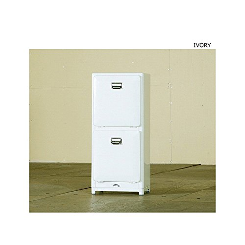 DULTON TRASH CAN DOUBLE DECKER Ivory DT-100-133 from Japan (133 Black And Decker compare prices)