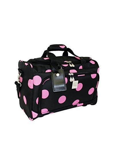Jenni Chan Dots City Duffel, Black/Pink