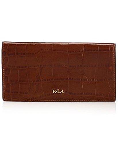 Lauren Ralph Lauren Lanesborough Slim Wallet in Croc Red