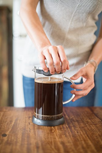 French-Press-36-Ounce-Coffeemaker-by-Ritual-with-Thick-Professional-Grade-All-Glass-Body-and-Handle-Zinc-Lid-and-Silicone-Heat-Resistant-Base