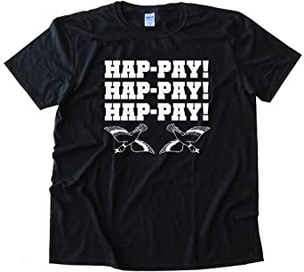 DUCK DYNASTY HAPPY HAPPY HAPPY PHIL ROBERTSON DUCK COMMANDER - Tee Shirt Anvil Softstyle Black (Small)