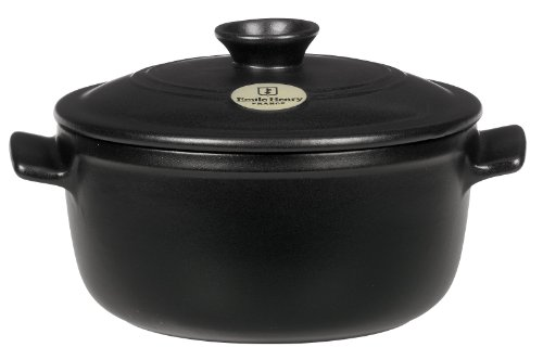 Emile Henry Flame Top 2-1/2-Quart Round Oven, Black (Flame Broiler Oven compare prices)