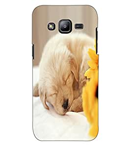 ColourCraft Cute Puppy Design Back Case Cover for SAMSUNG GALAXY J2 J200G