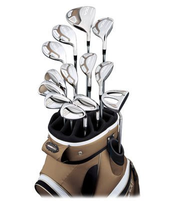 Adams Golf Idea A7OS 14 Piece Complete Set (Ladies Right-Handed, Color Bronze, Grafalloy Ultralite Graphite Ladies Shaft)