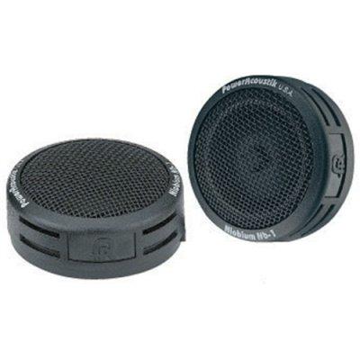 Pair Power Acoustik Nb1 200W 1 Car Audio Dome Niobium Tweeter 200 Watt Nb-1