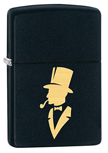 Zippo Lighter: Gentleman Pipe Smoker, Engraved - Black Matte (Bradford Smoker compare prices)
