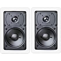 Definitive Technology UIW55 Rectangular In-Wall Speakers (Pair, White)