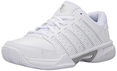 K-Swiss Women's Express Leather Athletic, White/Navy, 9 M US