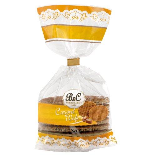 Caramel Wafers Waffles Biscuits (Stroopwafels) Hamlet 230g