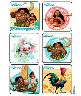 Stickers Disney Moana Birthday Party Supplies