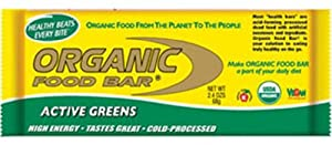 Organic Food Bar Active Greens, 12 Count