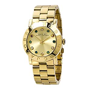 Marc by Marc Jacobs Amy Dexter Gold Tone Crystal Marker Womens Watch MBM3215