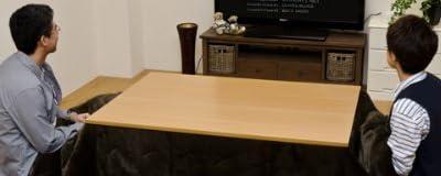家具調コタツ こたつ台 座卓 デザインと機能 安全性を併せ持った!120×80 ブラウン
