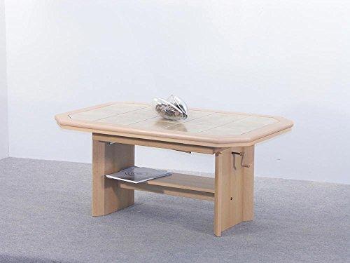 Couchtisch-Tisch-Wohnzimmertisch-Salontisch-Sofatisch-Kaffeetisch-Buche-Keramikkacheln-hhenverstellbar-Ablage-BHT-115-15754-6474-cm